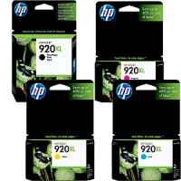 4 Pack Genuine HP 920XL Ink Cartridge Set (1BK,1C,1M,1Y) CD975AA CD972AA CD973AA CD974AA