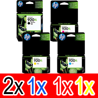 5 Pack Genuine HP 920XL Ink Cartridge Set (2BK,1C,1M,1Y) CD975AA CD972AA CD973AA CD974AA