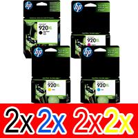8 Pack Genuine HP 920XL Ink Cartridge Set (2BK,2C,2M,2Y) CD975AA CD972AA CD973AA CD974AA