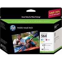 1 x Genuine HP 564 Cyan & Magenta & Yellow Ink Cartridge Photo Value Pack CG929AA