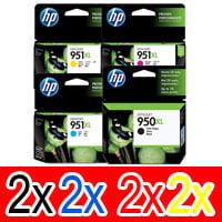 8 Pack Genuine HP 950XL 951XL Ink Cartridge Set (2BK,2C,2M,2Y) CN045AA CN046AA CN047AA CN048AA