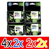 10 Pack Genuine HP 932XL 933XL Ink Cartridge Set (4BK,2C,2M,2Y) CN053AA CN054AA CN055AA CN056AA