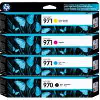 4 Pack Genuine HP 970 971 Ink Cartridge Set (1BK,1C,1M,1Y) CN621AA CN622AA CN623AA CN624AA