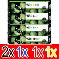 5 Pack Genuine HP 970XL 971XL Ink Cartridge Set (2BK,1C,1M,1Y) CN625AA CN626AA CN627AA CN628AA