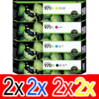 8 Pack Genuine HP 970XL 971XL Ink Cartridge Set (2BK,2C,2M,2Y) CN625AA CN626AA CN627AA CN628AA