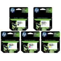 5 Pack Genuine HP 564XL Ink Cartridge Set (1BK,1PBK,1C,1M,1Y) CN684WA CB322WA CB323WA CB324WA CB325WA