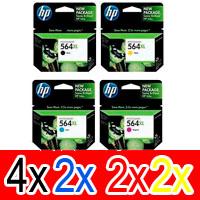 10 Pack Genuine HP 564XL Ink Cartridge Set (4BK,2C,2M,2Y) CN684WA CB323WA CB324WA CB325WA