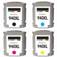 4 Pack Compatible HP 940XL Ink Cartridge Set (1BK,1C,1M,1Y) C4906AA C4907AA C4908AA C4909AA