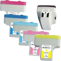 6 Pack Compatible HP 02 Ink Cartridge Set (1BK,1C,1M,1Y,1LC,1LM)) C8721WA C8771WA C8772WA C8773WA C8774WA C8775WA