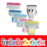 16 Pack Compatible HP 02 Ink Cartridge Set (6BK,2C,2M,2Y,2LC,2LM) C8721WA C8771WA C8772WA C8773WA C8774WA C8775WA