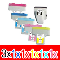 8 Pack Compatible HP 02 Ink Cartridge Set (3BK,1C,1M,1Y,1LC,1LM) C8721WA C8771WA C8772WA C8773WA C8774WA C8775WA