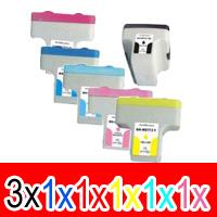 8 Pack Compatible HP 02 Ink Cartridge Set (3BK,1C,1M,1Y,1LC,1LM) C8721WA C8771WA C8772WA C8773WA C8774WA C8775WA