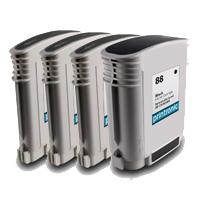 4 Pack Compatible HP 88XL Ink Cartridge Set (1BK,1C,1M,1Y) C9391A C9392A C9393A C9396A