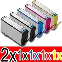 6 Pack Compatible HP 564XL Ink Cartridge Set (2BK,1PBK,1C,1M,1Y) CN684WA CB322WA CB323WA CB324WA CB325WA