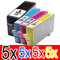 20 Pack Compatible HP 920XL Ink Cartridge Set (5BK,5C,5M,5Y) CD975AA CD972AA CD973AA CD974AA