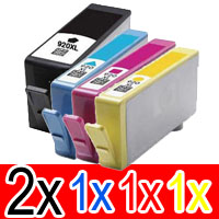 5 Pack Compatible HP 920XL Ink Cartridge Set (2BK,1C,1M,1Y) CD975AA CD972AA CD973AA CD974AA