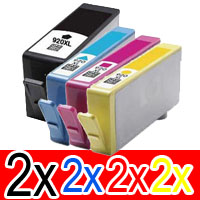8 Pack Compatible HP 920XL Ink Cartridge Set (2BK,2C,2M,2Y) CD975AA CD972AA CD973AA CD974AA