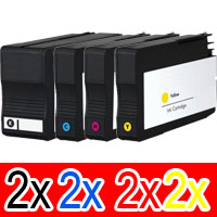 8 Pack Compatible HP 932XL 933XL Ink Cartridge Set (2BK,2C,2M,2Y) CN053AA CN054AA CN055AA CN056AA