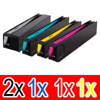 5 Pack Compatible HP 970XL 971XL Ink Cartridge Set (2BK,1C,1M,1Y) CN625AA CN626AA CN627AA CN628AA