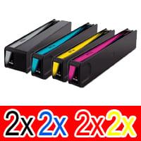 8 Pack Compatible HP 970XL 971XL Ink Cartridge Set (2BK,2C,2M,2Y) CN625AA CN626AA CN627AA CN628AA