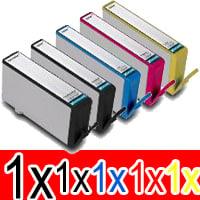 5 Pack Compatible HP 564XL Ink Cartridge Set (1BK,1PBK,1C,1M,1Y) CN684WA CB322WA CB323WA CB324WA CB325WA