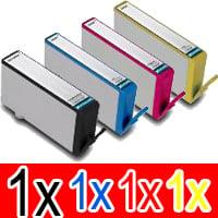 4 Pack Compatible HP 564XL Ink Cartridge Set (1BK,1C,1M,1Y) CN684WA CB323WA CB324WA CB325WA