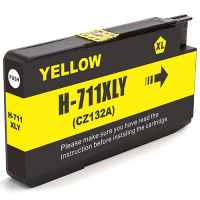 1 x Compatible HP 711 Yellow Ink Cartridge CZ132A
