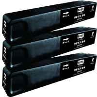 3 x Compatible HP 981X Black Ink Cartridge L0R12A