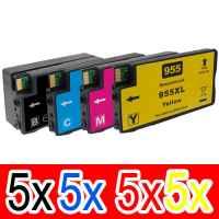 20 Pack Compatible HP 955XL Ink Cartridge Set (5BK,5C,5M,5Y) L0S72AA L0S63AA L0S66AA L0S69AA