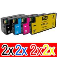 8 Pack Compatible HP 955XL Ink Cartridge Set (2BK,2C,2M,2Y) L0S72AA L0S63AA L0S66AA L0S69AA