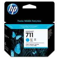 1 x Genuine HP 711 Cyan 3-Pack Ink Cartridge CZ134A