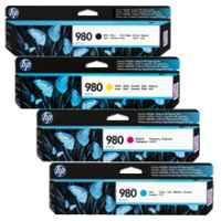 4 Pack Genuine HP 980 Ink Cartridge Set (1BK,1C,1M,1Y) D8J10A D8J07A D8J08A D8J09A