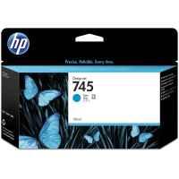 1 x Genuine HP 745 Cyan Ink Cartridge F9J97A
