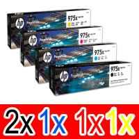 5 Pack Genuine HP 975X Ink Cartridge Set (2BK,1C,1M,1Y) L0S09AA L0S00AA L0S03AA L0S06AA