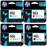4 Pack Genuine HP 905 Ink Cartridge Set (1BK,1C,1M,1Y) T6M01AA T6L89AA T6L93AA T6L97AA