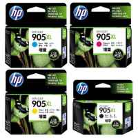 4 Pack Genuine HP 905XL Ink Cartridge Set (1BK,1C,1M,1Y) T6M17AA T6M05AA T6M09AA T6M13AA