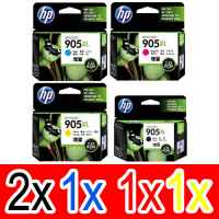 5 Pack Genuine HP 905XL Ink Cartridge Set (2BK,1C,1M,1Y) T6M17AA T6M05AA T6M09AA T6M13AA