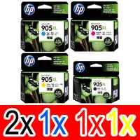 5 Pack Genuine HP 905XL Ink Cartridge Set (2BK,1C,1M,1Y) T6M17AA T6M05AA T6M09AA T6M13AA