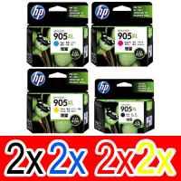 8 Pack Genuine HP 905XL Ink Cartridge Set (2BK,2C,2M,2Y) T6M17AA T6M05AA T6M09AA T6M13AA