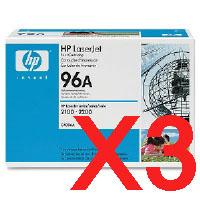 3 x Genuine HP C4096A Toner Cartridge 96A