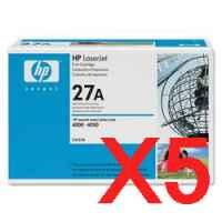 5 x Genuine HP C4127A Toner Cartridge 27A