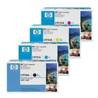 4 Pack Genuine HP C9720A C9721A C9722A C9723A Toner Cartridge Set 641A