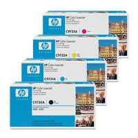 4 Pack Genuine HP C9730A C9731A C9732A C9733A Toner Cartridge Set 645A