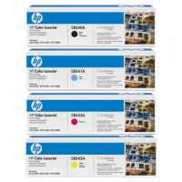 4 Pack Genuine HP CB540A CB541A CB542A CB543A Toner Cartridge Set 125A