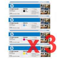 3 Lots of 4 Pack Genuine HP CB540A CB541A CB542A CB543A Toner Cartridge Set 125A