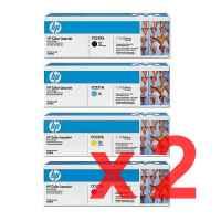 2 Lots of 4 Pack Genuine HP CC530A CC531A CC532A CC533A Toner Cartridge Set 304A
