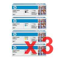 3 Lots of 4 Pack Genuine HP CC530A CC531A CC532A CC533A Toner Cartridge Set 304A