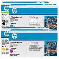 4 Pack Genuine HP CE260X CE261A CE262A CE263A Toner Cartridge Set 649X 648A