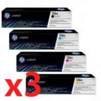 3 Lots of 4 Pack Genuine HP CE310A CE311A CE312A CE313A Toner Cartridge Set 126A