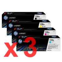 3 Lots of 4 Pack Genuine HP CE320A CE321A CE322A CE323A Toner Cartridge Set 128A